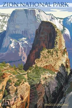 Zion National Park - Angels Landing by Lantern Press