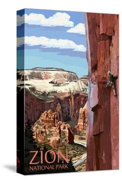 Zion National Park - Cliff Climber by Lantern Press