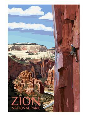 Zion National Park - Cliff Climber by Lantern Press