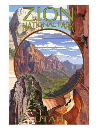 Zion National Park - Montage Views by Lantern Press