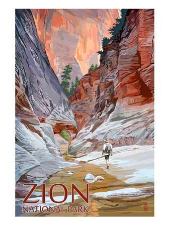 Zion National Park - Slot Canyon by Lantern Press