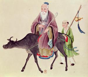 Lao-Tzu on His Buffalo, Followed by a Disciple