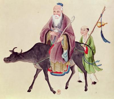 Lao-Tzu on His Buffalo, Followed by a Disciple