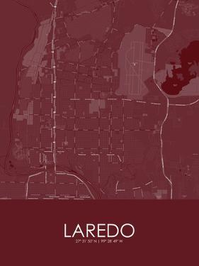 Laredo, United States of America Red Map