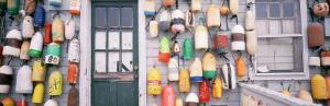 Large Group of Buoys Hanging on a Shack, Niantic, Connecticut, USA