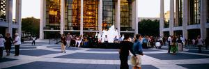 Large group of people in front of a building, Lincoln Center, Manhattan, New York City, New York...