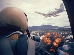 American Jets Dropping Napalm on Viet Cong Positions Early in the Vietnam Conflict by Larry Burrows