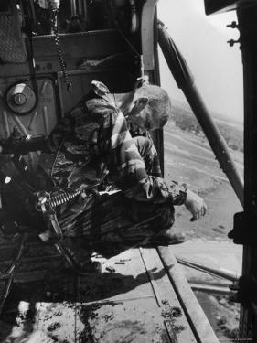 Crew Chief Lance Cpl. James Farley Cries After Witnessing Two Crewmates Get Shot by Larry Burrows