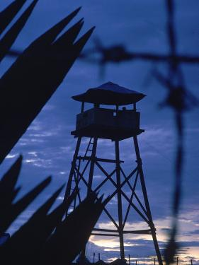 Lookout Tower Outside a Fortified Village During Vietnam War by Larry Burrows