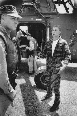Marine Cpl. James C. Farley Andd Helicoptor Pilot Captain Vogel, Danang, Vietnam 1965 by Larry Burrows
