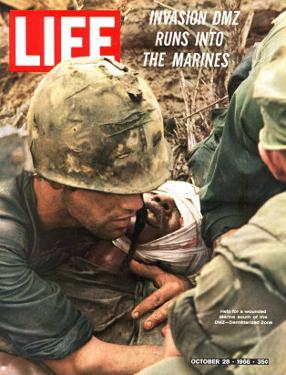 Wounded Marine, October 28, 1966 by Larry Burrows