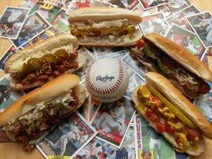 Baseball Hot Dogs by Larry Crowe