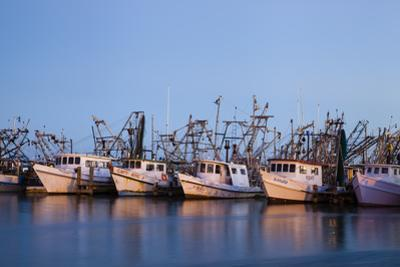 Fulton Harbor and oyster boats by Larry Ditto