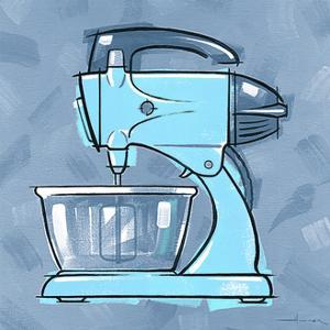 Blue On Blue Mixer by Larry Hunter