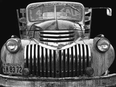 Chev 4 Sale - Black and White by Larry Hunter