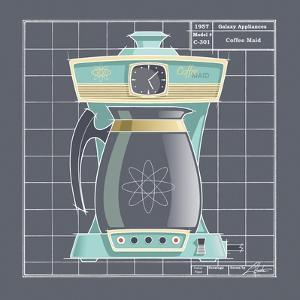 Galaxy Coffeemaid - Aqua by Larry Hunter
