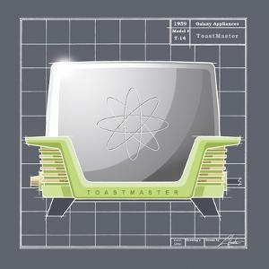 Galaxy Toaster - Lime by Larry Hunter