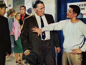 """Yesterday's Hero - Saturday Evening Post """"Men at the Top"""", September 5, 1959 pg.31 by Larry Kritcher"""