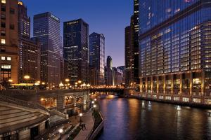 Chicago River Dusk II by Larry Malvin