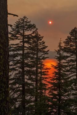 Smokey Sunset - Crater Lake by Larry McFerrin
