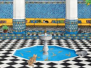 Cool Cats in Marrakech, 1993 by Larry Smart