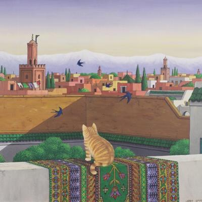 Rooftops in Marrakesh, 1989 by Larry Smart