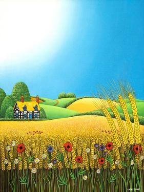 Sussex Wheatfields, 1995 by Larry Smart