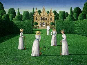 The Croquet Match, 1978 by Larry Smart