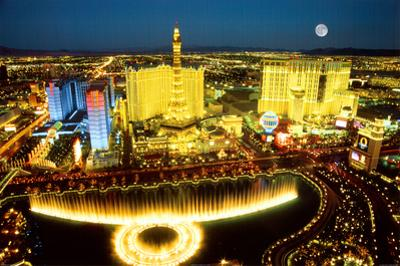 Las Vegas Aerial Photo Art Print Poster