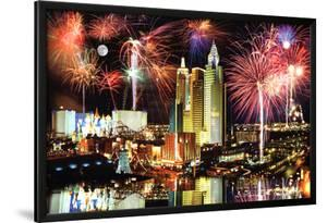 Las Vegas Fireworks Photo Art Print Poster