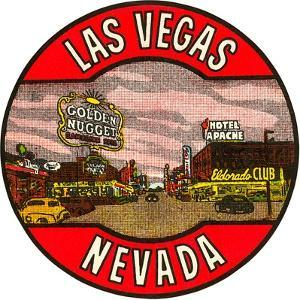 Las Vegas Logo, Golden Nugget, Nevada