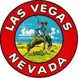 Las Vegas Logo with Bucking Bronco, Nevada
