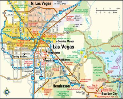 Maps of Las Vegas, NV Posters for sale at AllPosters.com