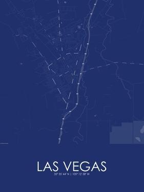 Las Vegas, United States of America Blue Map