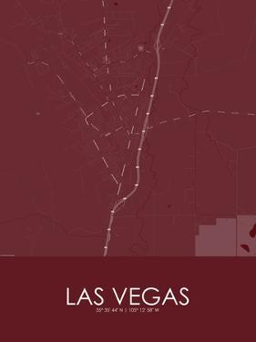 Las Vegas, United States of America Red Map