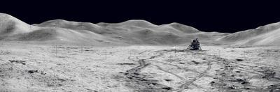Laser Reflectors, Rover Tracks and Footprints Left on the Moon's Surface.