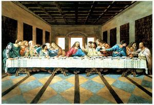 Last Supper Art Print Poster Jesus Christ Leonardo da Vinci
