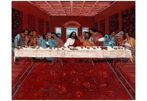 Last Supper Black Jesus Christ religious Print POSTER