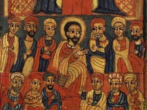 Last Supper, Detail from Triptych. Ethiopia, 18th-19th Century