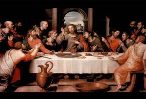 Last Supper religious Jesus Christ Art Print POSTER