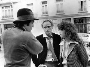 LAST TANGO IN PARIS, 1972 directed by BERNADO BERTOLUCCI On the set, Bernado Bertolucci directs Mar