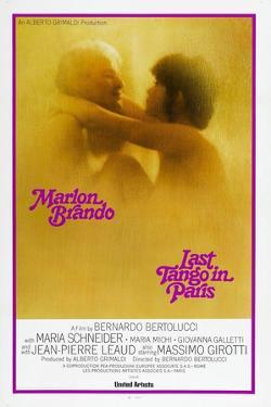 Last Tango in Paris, Marlon Brando, Maria Schneider, US poster, 1972