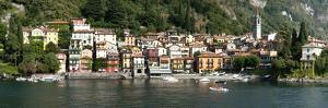 Late Afternoon View of Waterfront at Varenna, Lake Como, Lombardy, Italy