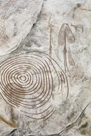 Later Stone Age Rock Painting Interpreted by Recent Scholars as Recording a Shamanistic Trance…