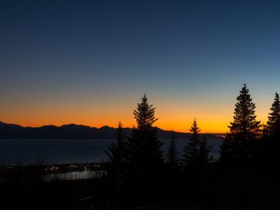 Last Color of Sunset over Homer Alaska by Latitude 59 LLP