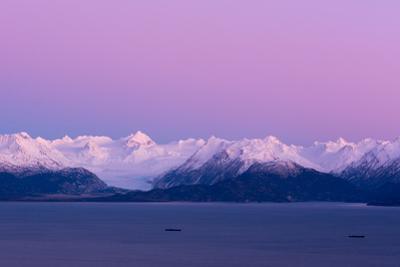 Pink Sky over Grewingk Glacier by Latitude 59 LLP