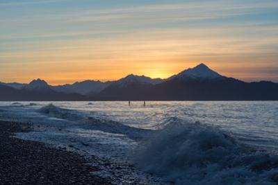 Two Surfers on Kachemak Bay Alaska by Latitude 59 LLP