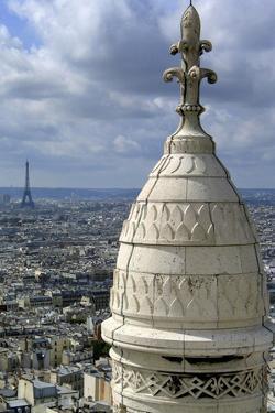 France. Paris. Sacre Coeur. Montmartre. Eiffel Tower by LatitudeStock