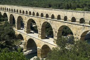 The Aqueduct, Built by the Romans in 19 BC, Carried Water to Nimes across the River Gard by LatitudeStock