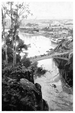 Launceston, from Cataract Bridge, Tasmania, Australia, 1886